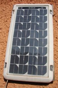 Y panel haul gan BP Solar yn ein gardd yn Nhreforys - cyn iddynt gefni ar ynni adnewyddol