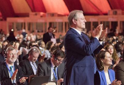 Al Gore Paris UN Conference closing Rhag 2015