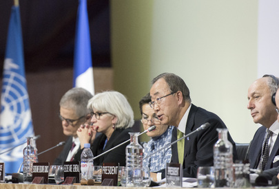 Ban KI-Moon UN Paris conference closing Rhag 12 2015